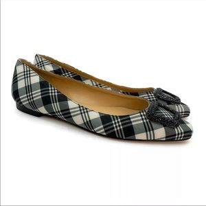 Talbots Rumi Jewel Tartan Plaid Ballet Flats Shoes